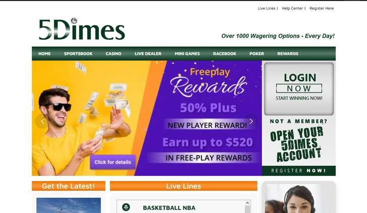 5Dimes Website - Mobile