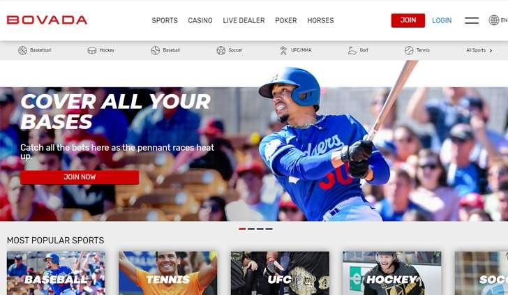 Bovada Website - Mobile